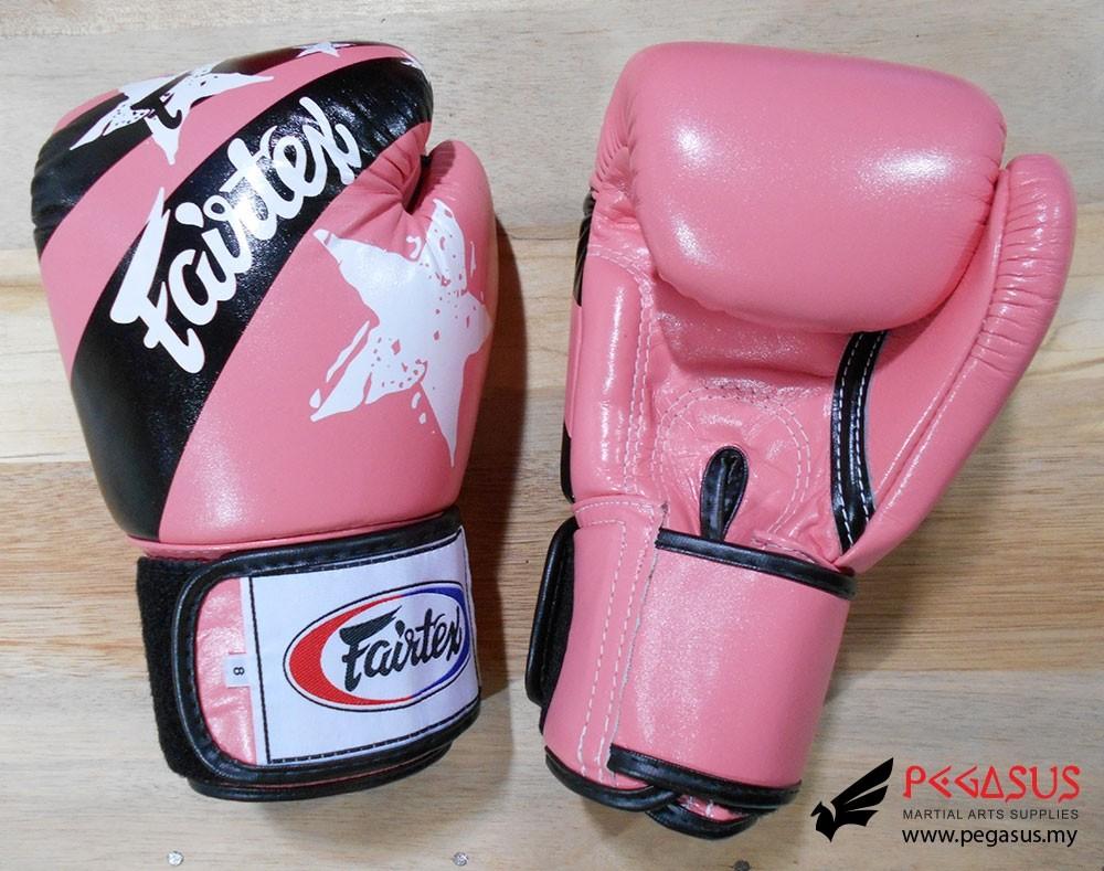 "Fairtex Muay Thai/Boxing Gloves  BGV1 ""Nation Prints"" Collection. PINK"
