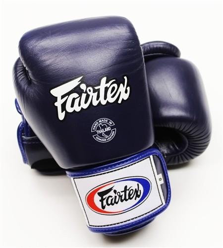 "Fairtex Muay Thai/Boxing Gloves  BGV1 ""TIGHT-FIT"" Design. DARK BLUE"