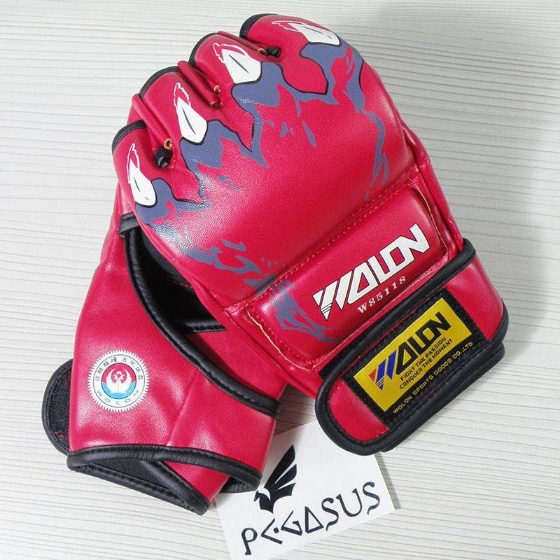 Wolon 'Claw' Red MMA UFC Boxing Grappling Gloves