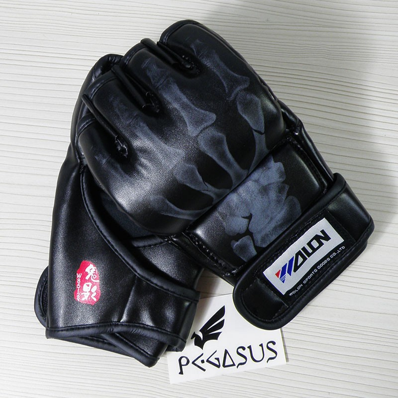 Wolon 'Ghost Hand' Black MMA UFC Boxing Grappling Gloves