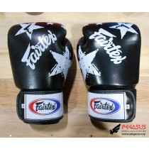 "Fairtex Muay Thai/Boxing Gloves  BGV1 ""Nation Prints"" Collection. Black"