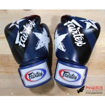 "Fairtex Muay Thai/Boxing Gloves  BGV1 ""Nation Prints"" Collection. BLUE"