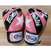 "Fairtex Muay Thai/Boxing Gloves  BGV1 ""Nation Prints"" Collection. PINK"