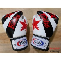 "Fairtex Muay Thai/Boxing Gloves  BGV1 ""Nation Prints"" Collection. WHITE"