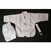 ORIENTAL White colar Taekwondo Uniform (Ribbed Cotton)