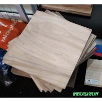 "1/2"" INCH BREAKING BOARD ( NATURAL WOOD 30 cm x 30 cm x 1.2 cm)"