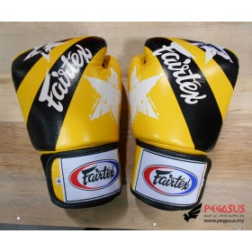 "Fairtex Muay Thai/Boxing Gloves  BGV1 ""Nation Prints"" Collection. YELLOW"