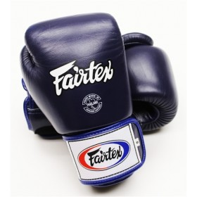 "Fairtex Muay Thai/Boxing Gloves  BGV1 ""TIGHT-FIT"" Design. DARK BLUE"