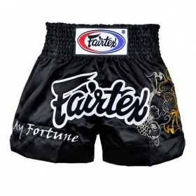 Fairtex My Fortune Black Muaythai Shorts BS0639