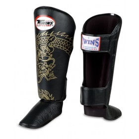 TWINS DRAGON SHIN GUARDS - PREMIUM LEATHER