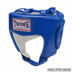 TWINS HEAD GEAR - PREMIUM LEATHER W/CHIN