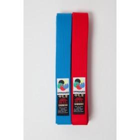 Shureido WKF Approved Red & Blue Belt (Kumite)