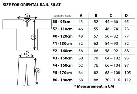 Size measurement for silat uniform